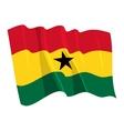 political waving flag of ghana
