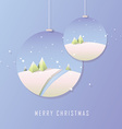 Polygonal Christmas design in baubles vector image vector image
