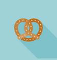 pretzel icon vector image vector image