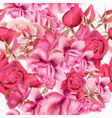 rose pattern with realistic pink roses for design vector image vector image