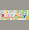 route to home destination city map vector image vector image