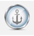 Sea Glossy Icon vector image vector image