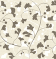 Seamless retro ginkgo background vector image vector image