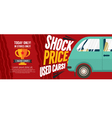 Shock Price Used Cars Sale 6250x2500 pixel Banner vector image vector image