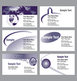 Six business card templates vector image