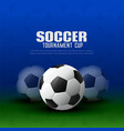 soccer tournament background with football design vector image vector image