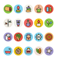 SPA Colored Icons 3 vector image