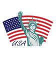 Statue Liberty USA vector image vector image