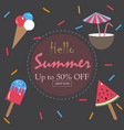 summer sale up to 50 vector image