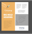 sword business company poster template with place vector image vector image