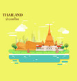 temple and buddha for traveling in thailand vector image