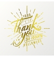 Thank you so much - Calligraphic phrase written in vector image vector image