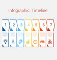 timeline infographic for seven position vector image vector image