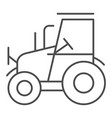 tractor thin line icon agrimotor vector image