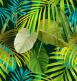 Tropical leaf pattern vector image vector image