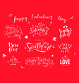 valentine day hand drawn calligraphy love vector image vector image
