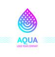 water drop symbol bright color vector image