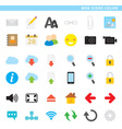 web icons color vector image vector image