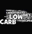 your guide to quick to fix easy low carb recipes vector image vector image