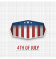 fourth of july badge for print or web vector image