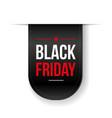 Black Friday ribbon tag vector image