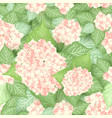 seamless hydrangea flower pattern vector image