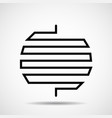 abstract circle of line design element vector image vector image