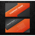 Abstract creative business cards set vector image vector image