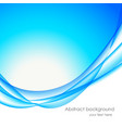 Abstract wavy bakground in blue color vector image vector image