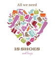 All we need is shoes Womens shoes sign in shape vector image vector image
