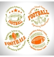 American football vintage labels for poster vector image vector image