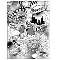 black and white comic book page vector image vector image