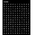 black home appliances icons set vector image vector image