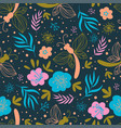 blossom fabric nature flower print seamless patter vector image