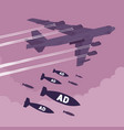 bomber and ad bombing vector image vector image