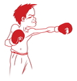 boxer5 resize vector image vector image