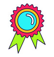 bright medal icon vector image