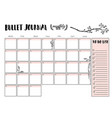 bullet journal year monthly planner vector image