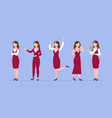 cartoon woman different clothes business women vector image vector image