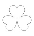 clover the black color icon vector image