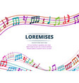 colorful musical notes and sound waves vector image vector image