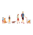 concept friendship between animals and people vector image vector image