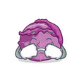 crying red cabbage mascot cartoon vector image vector image