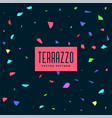 dark colorful terrazzo pattern background vector image