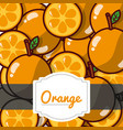 delicious orange fresh fruit label pattern vector image