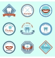 Dental emblems set vector image vector image