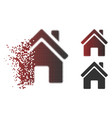dissolved pixelated halftone home building icon vector image vector image