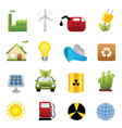 eco icon set vector image vector image