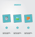 flat icons laundromat washcloth laundry and vector image vector image