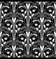 floral lace textured baroque seamless pattern vector image vector image